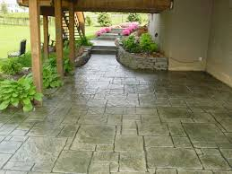 Stamped Concrete Patio Designs   Concrete Patio Cost Floor Design