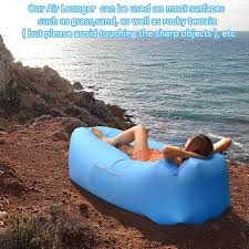 inflatable lounge furniture. Outdoor Inflatable Lounger Couch, Air Sofa Blow Up Lounge Chair With Carrying Bag For Travelling, Camping, Hiking, Park, Pool And Beach Parties Furniture R