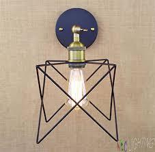 loft industrial iron cage. Generic Retro Loft Industrial Adjustable Swing Arm Iron Cage Edison Wall Lamp Fixture Apliques De Pared Con Cristal 220v Light Fixtures A