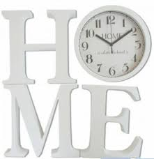 large cream london wall clock with