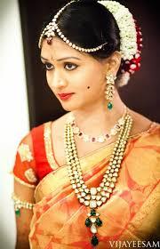 south indian bride makeup jewels saree gajra kala tika on the