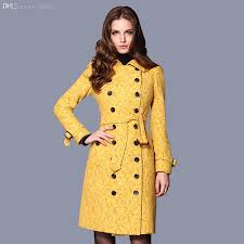 2018 whole dark blue yellow autumn winter new 2016 double ted coat women s coats wool trench coat long pea coats women free ship from odelettu