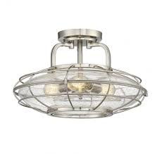 seeded glass lighting fixtures. savoy house 6-574-3-sn connell 3 light in semi-flush mount satin nickel with clear seeded glass lighting fixtures