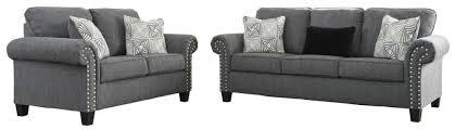 ashley furniture agleno living room set in charcoal