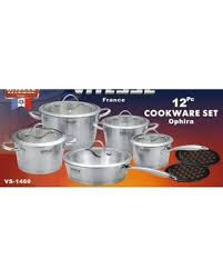 Can't Miss Deals on <b>Vitesse</b> Tri-Ply 12 Piece Cookware Set Concord
