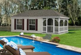 small pool shed. Vinyl Hip Style Pool House Small Shed