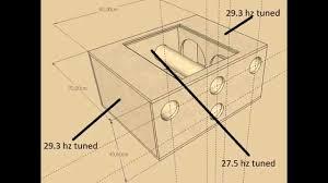 6th Order Bandpass Box Design Pioneer 4 12s 6th Order Baspand Box Design Ts W310d4 Youtube