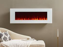 real flame 50 in dinatale wall mount electric fireplace in white 1330e w