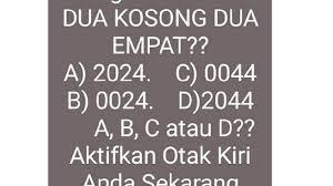 Pilihlah salah satu jawaban yang benar dengan memberi tanda silang (x) pada huruf a, b, c, d dan e! Tes Asah Otak Sederhana Pecahkan Jawaban Dari Soal Berikut Ini Citizen6 Liputan6 Com
