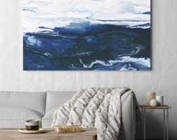 navy blue canvas wall art