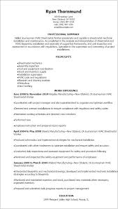 Resume Templates: Journeymen Hvac Sheetmetal Worker Resume