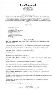 resume templates journeymen hvac sheetmetal worker resume hvac technician sample resume