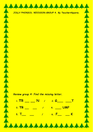 At the bottom of this page you will find web links to phonics websites which will help improve phonics through apps, games, reading and worksheets. Jolly Phonics Group 4 Worksheet