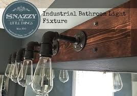 DIY Industrial Bathroom Light Fixture - By SnazzyLittleThings.com  #TriplePFeature