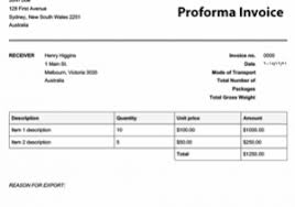 Proforma Invoice Format For Export Elegant Proforma Invoice Template