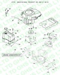 husqvarna lt151 kohler engine parts diagram image