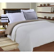 executive 3000 series regal embroidered solid duvet cover set white black