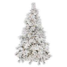 3.5ft Pre-Lit LED Artificial Christmas Tree Alberta Flocked White Cone -  White Lights