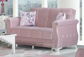 zigana pink convertible loveseat by casamode