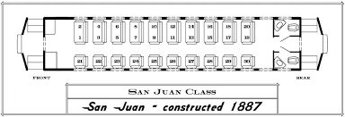 Coach Bus Seating Chart Durango Silverton Train Classes Seating Narrow Gauge