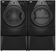 black washer and dryer. Whirlpool Duet Sport HT WFW8400TB - Washer And Dryer Pair With 15.5 Inch Pedestal Black A