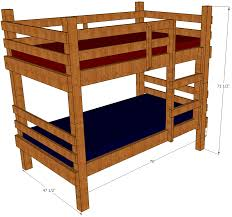 Charming Bunk Bed Plans Ana White Pics Ideas