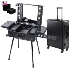 4 wheel rolling makeup case with lights rolling makeup case with lights makeup case with lights makeup case on alibaba