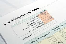 Loan Amoritization Loan Amortization Schedule Buy This Stock Photo And Explore