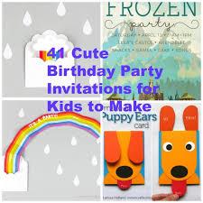 Make Birthday Party Invitations 41 Printable Birthday Party Cards Invitations For Kids To Make