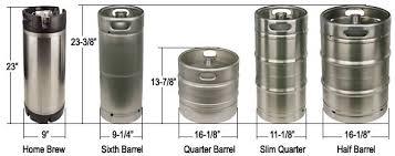 barrel size different keg sizes best kegerator guide