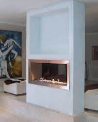 modern fireplace design gas exclusive double sided