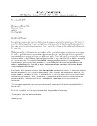 Law Firm Cover Letter Sample The Letter Sample