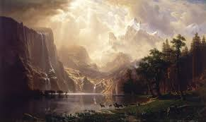this is the most beautiful painting i ve ever seen among the sierra nevada mountains california albert bierstadt 1868