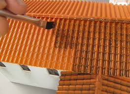 painting roof tiles