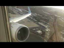 thomson airways boeing 767 304 lanzarote to london gatwick full flight you