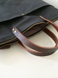 modern coup waxed canvas leather bags custom front
