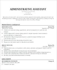 Administrative Secretary Resume Sample Best of Objective For Administrative Resume Administrative Resume Objective