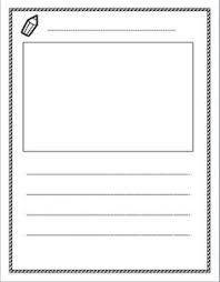 primary writing papers both picture and all lines   lined paper space for story illustrations