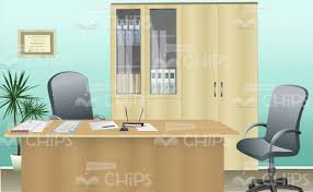 office room pictures. Spacious Office Room Vector Background Pictures