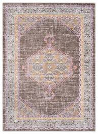 germili traditional bright pink dark brown area rug mediterranean area rugs by freely