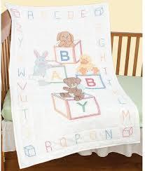 Jack Dempsey Needle Art Baby Blocks Crib Quilt Top - Stamped Cross ... & Baby Blocks Crib Quilt Top - Stamped Cross Stitch Kit Adamdwight.com