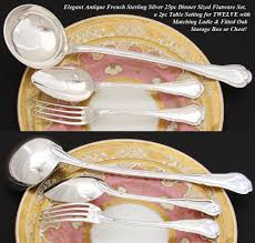 Table Setting In French Fine Antique French Sterling Silver Dinner Service 12 Persons For