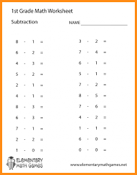 1St Grade Math Worksheets Subtraction Word Problems Worksheets for ...
