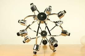 vintage glass ball sputnik pendant lamp