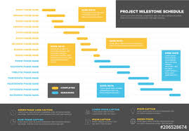 Blue And Yellow Gantt Chart Layout Buy This Stock Template