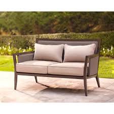 Brown Jordan Greystone Patio Loveseat With Sparrow Cushions Best