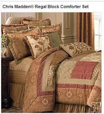 chris madden regal block comforter set king new