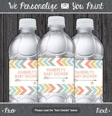 Decorating Water Bottles For Baby Shower Tribal Water Bottle Labels Printable Tribal Baby Shower Party 63