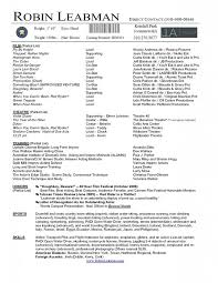 Casting Resume Sample Best Of Theatre Resume Template Word Fastlunchrockco