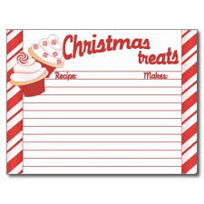 Christmas Recipe Cards Template Holiday Recipe Cards Templates Math Word Problems